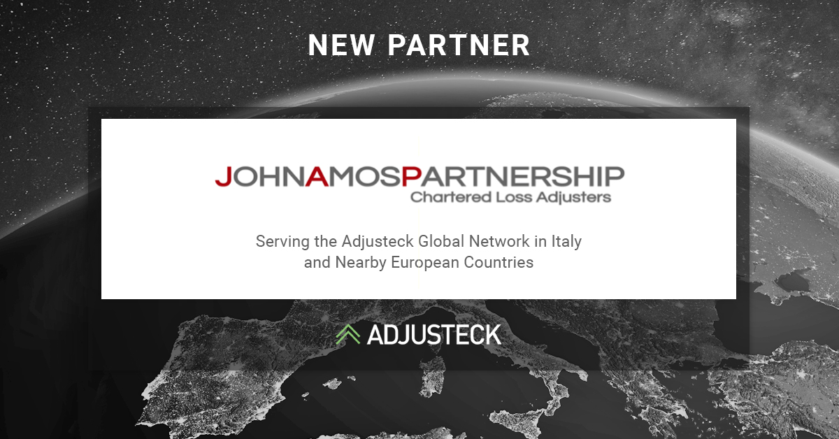NEW PARTNER John Amos Serving the Adjusteck Global Network in Italy and Nearby European Countries Adjusteck